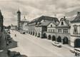 Domažlice - Pohled na náměstí, tvořící střed historického města