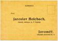 Jaroslav Holcbach, Jaroměř