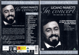 DVD - Legends On Stage - Luciano Pavarotti In concert - NEROZBALENO !