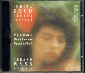 CD - Indira Koch - Violin  Gerard Wyss - Piano
