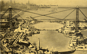 Aerial View of Sky Ride and Panaroma of A Century of Progress (pohled)