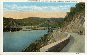 Approaching the Last Curve on Bear mountain Bridge road, N.Y. (pohled)