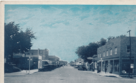 Business Street View, North, Schuyler, Nebr (pohled)