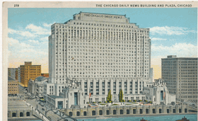 The Chicago Daily News Building and Plaza, Chicago (pohled)