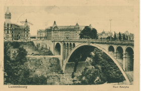 Luxembourg - Pont Adolphe (pohled)