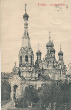 Německo - Dresden - Russische Kirche (pohled)