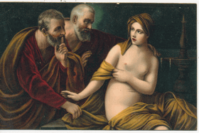The Chaste Susanna - Guido Reni (pohled)