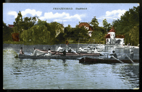 Franzensbad - Stadteich (pohled)