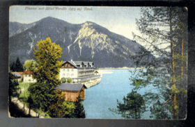Plansee - hotel Forelle (pohled)